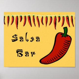 Salsa-Bar-Zeichen Poster