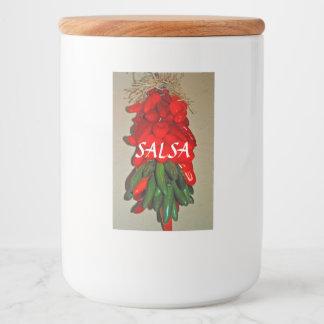 Salsa-Nahrungsmittelbehälter-Aufkleber Lebensmitteletikett