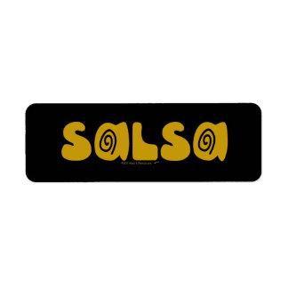 Salsa-Tanzen-GoldWirbel kundengerecht Rückversand-Adressaufkleber