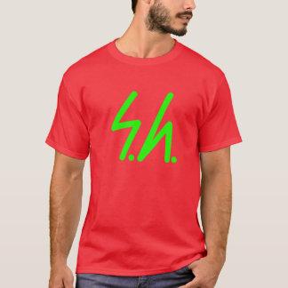 Saluki graues Logogrün T-Shirt