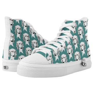 Saluki Weiß Hoch-geschnittene Sneaker