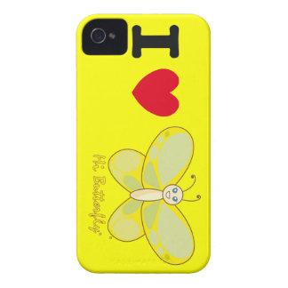 Salut Coque-Compagnon audacieux de Butterfly® Blac Coques iPhone 4 Case-Mate