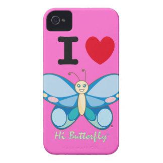 Salut Coque-Compagnon audacieux de Butterfly® Blac Étuis iPhone 4