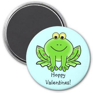 Salutation drôle de grenouille d'amour : Saint-Val Magnet Rond 7,50 Cm