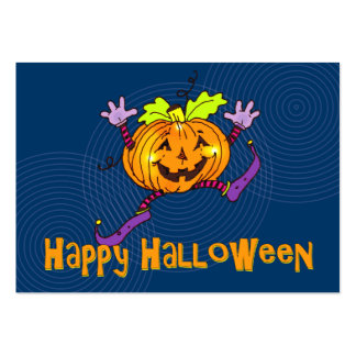 Salutation heureuse de citrouille de Halloween Carte De Visite Grand Format