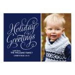 Salutations bleues de vacances invitations personnalisées