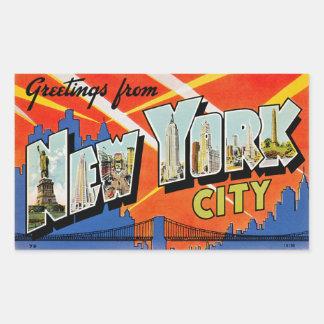 Salutations de New York City Sticker Rectangulaire