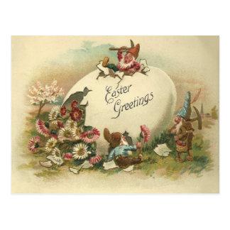 Salutations vintages de Pâques Carte Postale