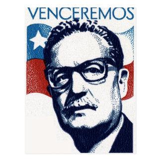 Salvador Allende - Venceremos Postkarte