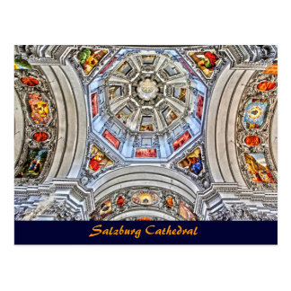 Salzburg-Kathedralen-Hauben-Fresko-altes Testament Postkarte