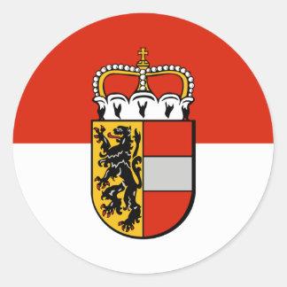 Salzburg, Österreich Runder Aufkleber