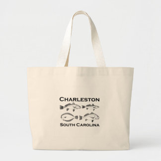 Salzwasser-Fischen Charlestons South Carolina Jumbo Stoffbeutel