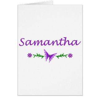 Samantha (lila Schmetterling) Karte