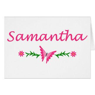 Samantha (rosa Schmetterling) Karte