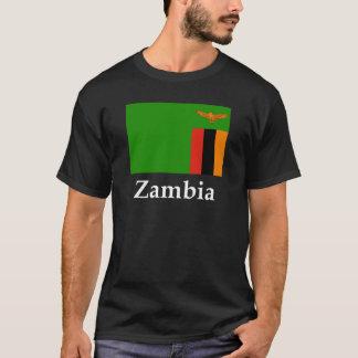 Sambia-Flagge und Name T-Shirt