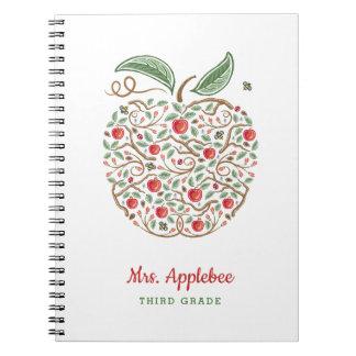Samen von Apple-Notizbuch des Wissens-Lehrers Spiral Notizblock