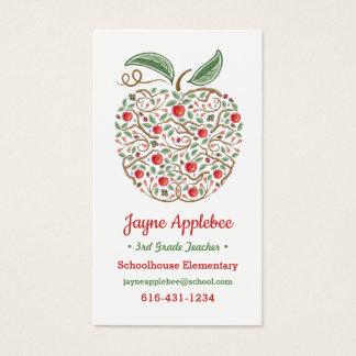 Samen von Apple-Visitenkarte des Wissens-Lehrers Visitenkarte