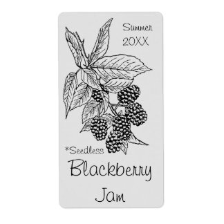 Samenloser BlackBerry-Marmeladen-Glas-Aufkleber