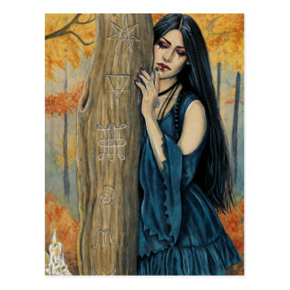 Samhain gotische postkarte