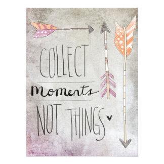 Sammeln Sie Moment-nicht Sachen Kunstfoto