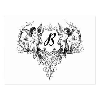 Sammlung des Amor-Monogramm-B Postkarten