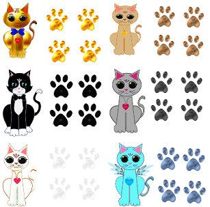 Katzen Cartoon Aufkleber Zazzlech