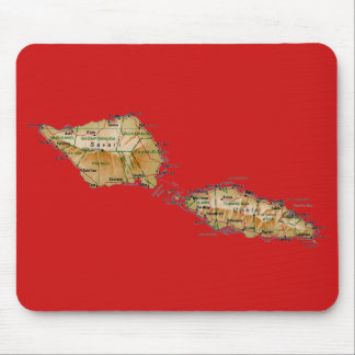 Samoa-Inseln Karte Mousepad