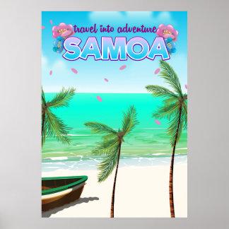 """Samoa-Inseln """"Reise in Abenteuer"""" Reiseplakat Poster"""