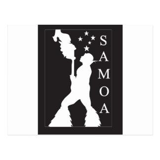 SamoaBlackWhite.ai Postkarte