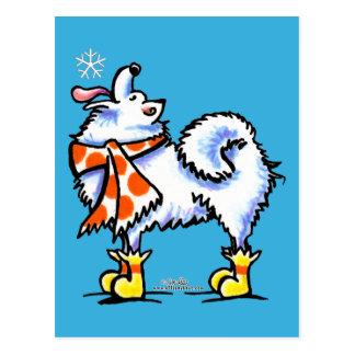 Samoyed-amerikanische Eskimohundeschneeflocke Postkarten