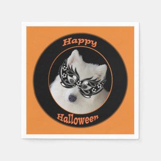 Samoyed-Halloween-Cocktail-Servietten Papierserviette