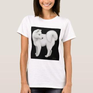 Samoyed-Hundedamenbabydoll-Shirt T-Shirt