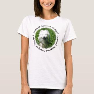 Samoyed im Gras W/Samoyed T-Shirt