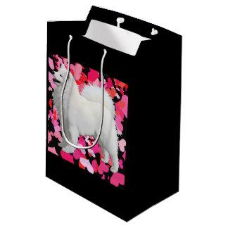 Samoyed-kundenspezifische Geschenk-Tasche - Mittlere Geschenktüte