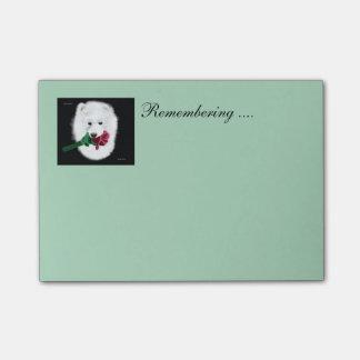Samoyed Posten-it® merkt 4 x 3; Erinnern an Post-it Haftnotiz