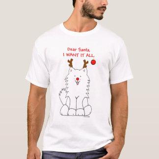 Samoyed Sankt will ich es aller T - Shirt