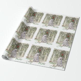Samoyed-Weihnachten Geschenkpapier