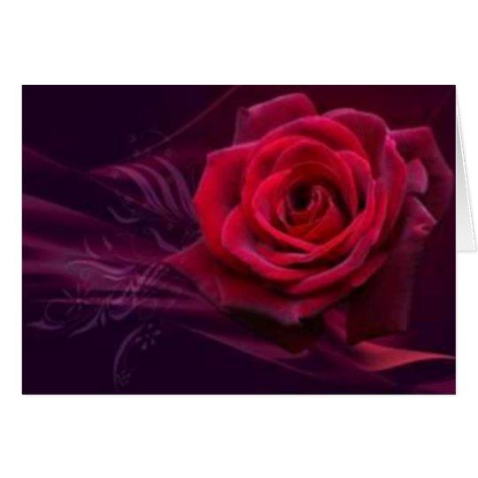 Samt-Rosen-Gruß-Karte Grußkarte