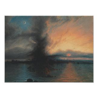 Samuel Colman - der Felsen der Rettung Kunstfoto