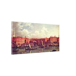Samuel Scott - Eingang zum Flotten-Fluss Galerie Gefaltete Leinwand