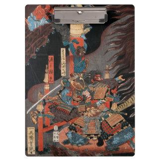 Samurai-Held Minamoto kein Yorimitsu Klemmbrett