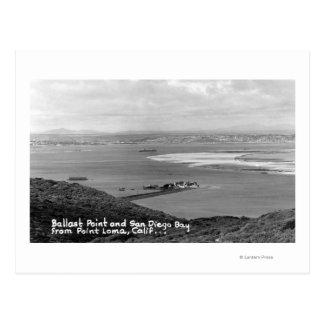 San Diego, CA-Ansicht des Ballast-Punktes und der Postkarte