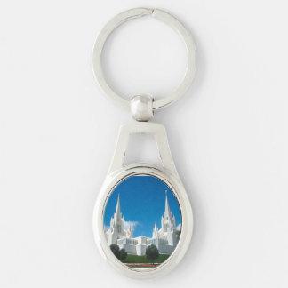 San Diego Kalifornien LDS Tempel-Oval Keychain Schlüsselanhänger