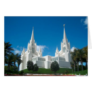San Diego LDS Tempel Grußkarte