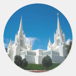 San Diego LDS Tempel Runder Aufkleber