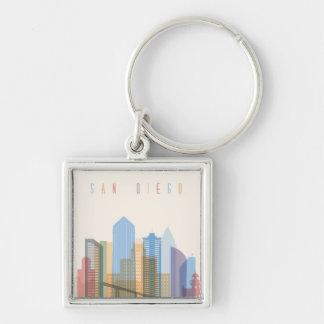 San Diego Stadt-Skyline Schlüsselanhänger