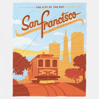 San Francisco, CA - die Stadt durch die Bucht Fleecedecke