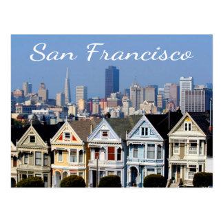 San Francisco CA gemalte Damenskyline-Staaten Postkarte