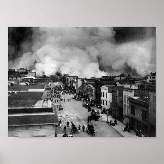 San Francisco Erdbeben-Nachwirkungen - 1906 Poster