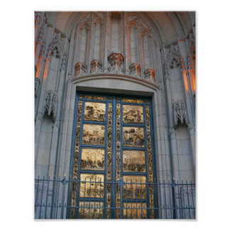San Francisco Ghiberti Tür-Plakat Poster